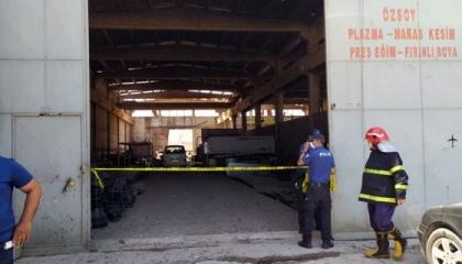 انفجار مصنع تقطيع مكابس وقطع حديدية في مدينة غازي عنتاب التركية