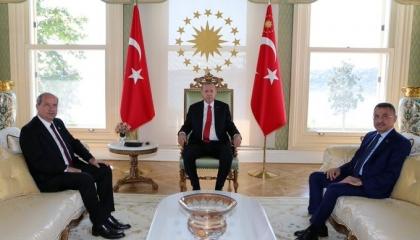 أردوغان يستقبل رئيس وزراء  قبرص الشمالية.. وأنقرة تتكتم على التفاصيل