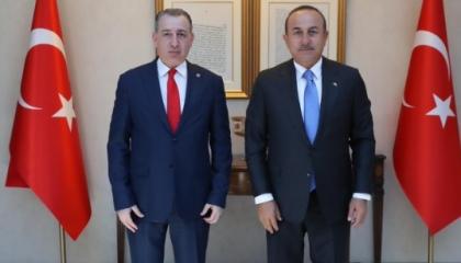 جاويش أوغلو يستقبل وزير شؤون المكونات العرقية بحكومة كردستان