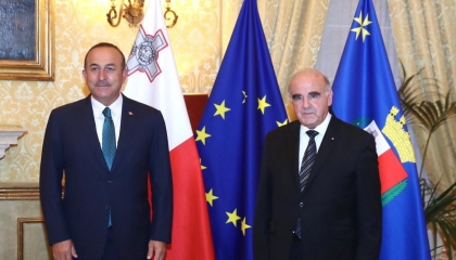 الرئيس المالطي يستقبل وزير الخارجية التركي في العاصمة فاليتا