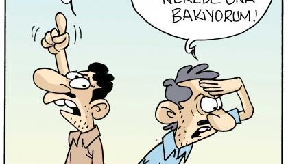 كاريكاتير تركي يسخر من تجاهل النظام لارتفاع سعر الدولار