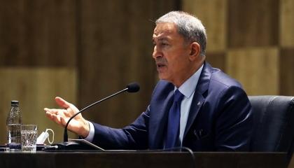 خلوصي أكار: لا نسمح بوجود أي مشروع بالمتوسط  يستثني تركيا أو شمال قبرص