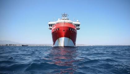 تركيا تستفز دول المتوسط وتعلن بدء عمل سفينة «أوروتش رئيس»