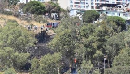 حريق بمنطقة عسكرية في مدينة إزمير التركية