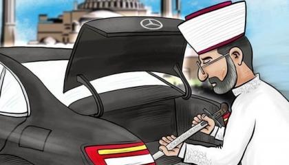 رواد السوشيال ميديا في تركيا يسخرون من سيف رئيس الشؤون الدينية