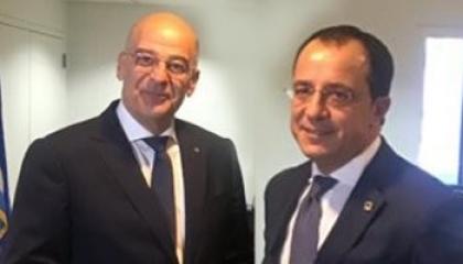 وزيرا خارجية قبرص واليونان: نبحث قائمة عقوبات على تركيا