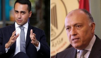 مكالمة هاتفية بين وزير الخارجية المصري ونظيره الإيطالي