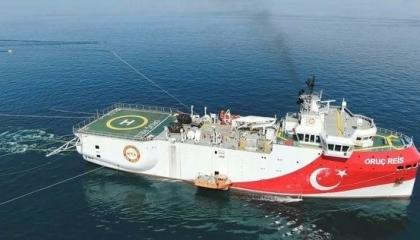 تركيا تعلن تمديد عمل سفينة «أوروتش رئيس» في المتوسط 90 يومًا إضافية