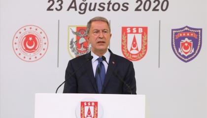أكار: لن نسمح بأي تهديد لنا في المتوسط.. ولا نعترف باتفاقية مصر واليونان