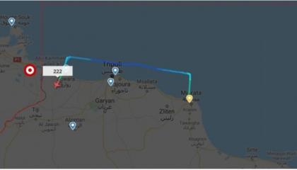 موقع إيطالي يرصد طائرة عسكرية تركية تنطلق من إسطنبول وتحط في قاعدة الوطية