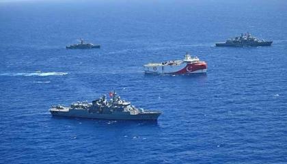 بالفيديو.. مناورات عسكرية بين تركيا وإيطاليا في شرق المتوسط