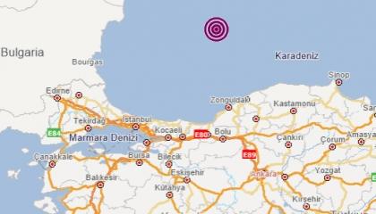 زلزال بقوة 3.7 درجات يضرب ساحل البحر الأسود