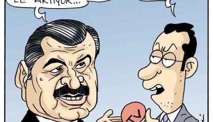 كاريكاتير: الأتراك غاضبون من أكاذيب وزارة الصحة حول كورونا