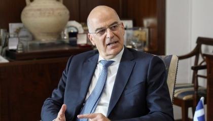 وزير الخارجية اليوناني: اتفاقيتنا مع مصر شرعية.. وسلوك تركيا منحرف
