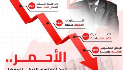 إنفوجراف: الأحمر لون الاقتصاد التركي المفضل