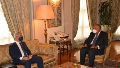 وزير الخارجية المصري يؤكد لنظيره المالطي ضرورة منع نقل الإرهابيين إلى ليبيا