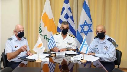 اتفاق يوناني قبرصي إسرائيلي لتعزيز التعاون العسكري.. ما الهدف؟