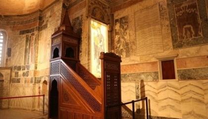 تركيا تقيم صلاة الجمعة الأولى بـ«دير شورا» البيزنطي بعد تحويله إلى مسجد