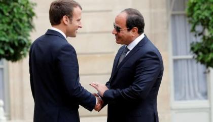 السيسي وماكرون يؤكدان دعم المسار السياسي في ليبيا ورفض التصعيد بالمتوسط