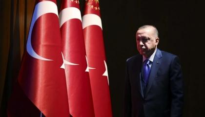 مباحثات بين أردوغان ورئيسة المفوضية الأوروبية وأمين عام الناتو بشأن المتوسط