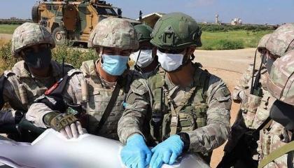تدريبات مشتركة بين الجنود الأتراك والروس في إدلب السورية