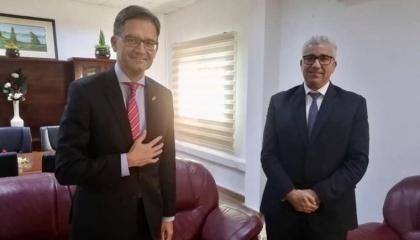 وزير داخلية حكومة الوفاق يلتقي السفير الألماني في ليبيا