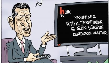 كاريكاتير: الإعلام المعارض لا صوت ولا رأي له في عهد أردوغان