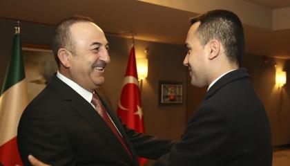 بعد إعلان روما اصطفافها بجانب اليونان.. وزير خارجية أردوغان في إيطاليا