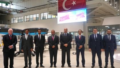 بالصور.. وزير الدفاع القطري يزور مصنع الطائرات التركية المسيرة بإسنطبول
