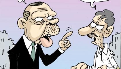 كاريكاتير: الدين ورقة أردوغان عندما يضيق الخناق