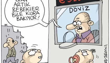 كاريكاتير: الدولار الأمريكي يقلق الرٌضع في تركيا