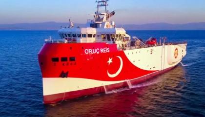سفينة «أوروتش رئيس» التركية تتجاهل إنذارات أثينا وتخترق المياه اليونانية
