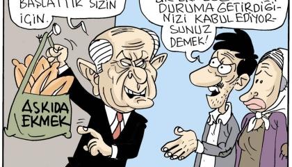 كاريكاتير: حملة بهتشلي اعتراف صريح بأن المواطن التركي «جائع»