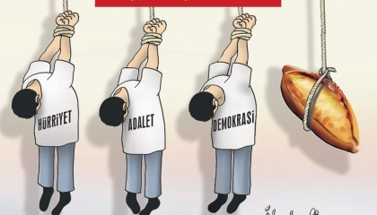 كاريكاتير تركي: لا خبز ولا حرية ولا عدالة.. حال البلاد تحت حكم أردوغان