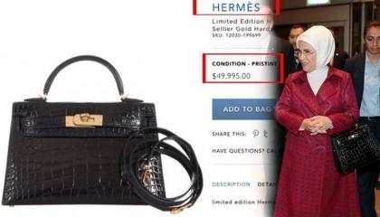 أردوغان يدعو شعبه لمقاطعة منتجات فرنسا وزوجته تشتري حقيبة ووشاحًا من باريس!