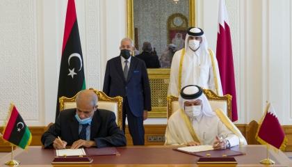 توقيع اتفاقية تعاون أمني بين قطر وحكومة الوفاق الليبية
