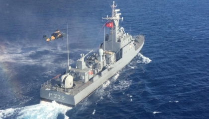 بالصور.. تركيا تستعرض تدريبات القوات البحرية بالذخيرة الحية في شرق المتوسط