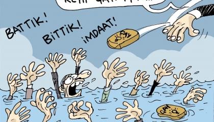 كاريكاتير: في عهد أردوغان.. الشاي دواء لجوع الأتراك ومنقذهم من الموت!