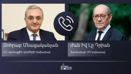 وزير خارجية أرمينيا يهاتف نظيره الفرنسي لبحث تطورات الصراع في كاراباخ