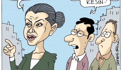 كاريكاتير ساخر.. الأتراك:  لا نعرف حقيبة أمينة أردوغان ولكن يقولون تقليدية!