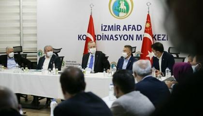 أردوغان يعلن من إزمير عن ارتفاع ضحايا الزلزال إلى 37.. ومساعدات من 88 دولة