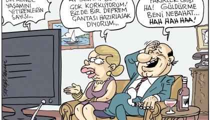 كاريكاتير: عذرًا يا سادة.. الفقراء هم من يموتون إثر الزلازل وليس الأغنياء!