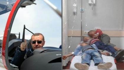 صورة اليوم في تركيا.. 3 أطفال يُعالجون على سرير واحد بمستشفى «حران»