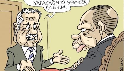 كاريكاتير.. بولنت أرينتش لأردوغان: ظننت أنك تنوي الإصلاح فعلًا!
