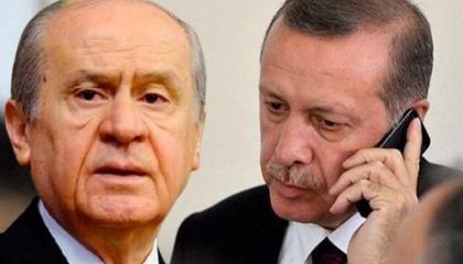 هاتفيًا.. زعيم حزب الحركة القومية التركي يهنئ أردوغان بالعام الجديد
