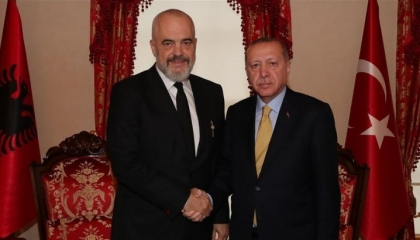أردوغان يستقبل رئيس وزراء ألبانيا في أنقرة