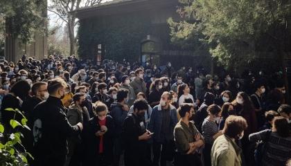 تجدد احتجاجات طلاب جامعة «بوغازيتشي» ضد أردوغان.. شاهد فيديو