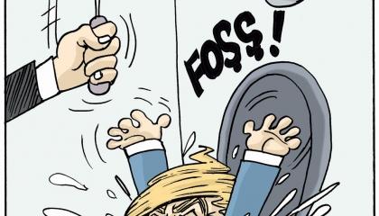 كاريكاتير تركي ينقلب على ترامب حليف أردوغان: راحل لا محالة!