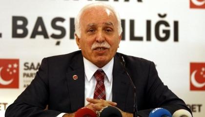 رئيس «السعادة» السابق يرفض التحالف معه: لا ينبغي أن نشارك في خطايا أردوغان
