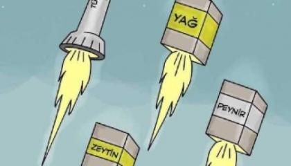 كاريكاتير: أسعار السلع التركية ترتفع بسرعة الصاروخ.. وتصل إلى الفضاء!